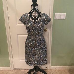 J.Crew Paisley Print dress w pockets